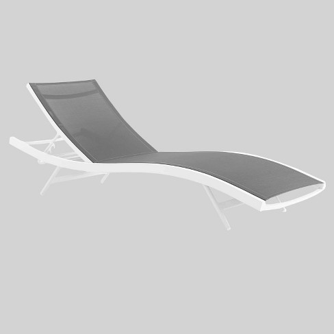 Mesh Patio Chaise Lounge Chair Gray, Chaise Lounge Chairs Outdoor Target