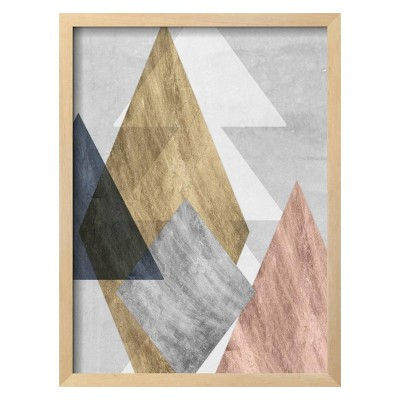 Peaks I By Jennifer Goldberger Framed Wall Art Poster Print 16 x21  - Art.com