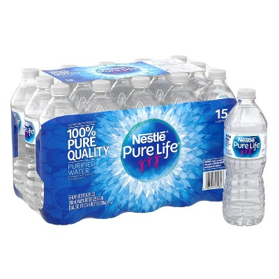 Nestle Pure Life Purified Water - 15pk/16.9 fl oz Bottles