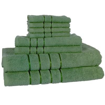 8pc Plush Cotton Bath Towel Set - Yorkshire Home