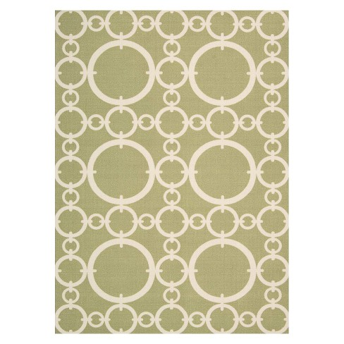 Waverly Rings Indoor/Outdoor Rug - Lime (5'x7') - image 1 of 4