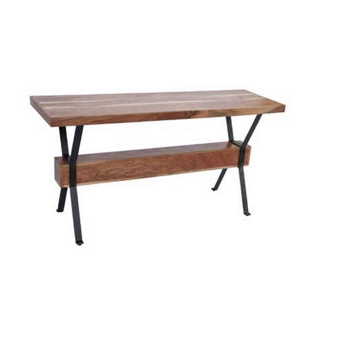 Wooden Top Console Sofa Entry Table Antique Wood - The Urban Port - image 1 of 6