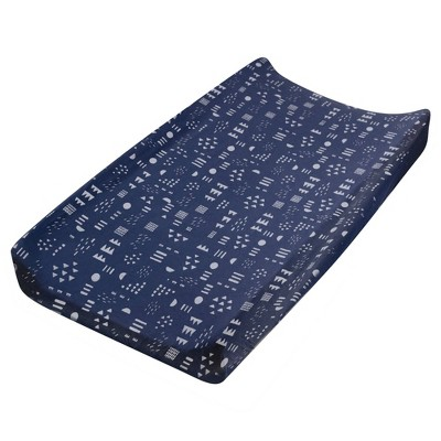 Honest Baby Organic Cotton Changing Pad Cover - Pattern Play Navy