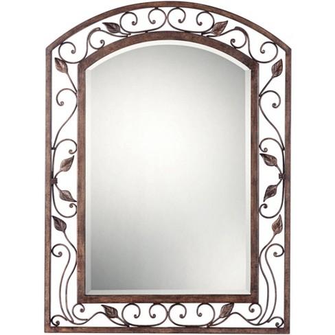 "Franklin Iron Works Eden Park Bronze 25"" x 34"" Arch Top Wall Mirror - image 1 of 4"