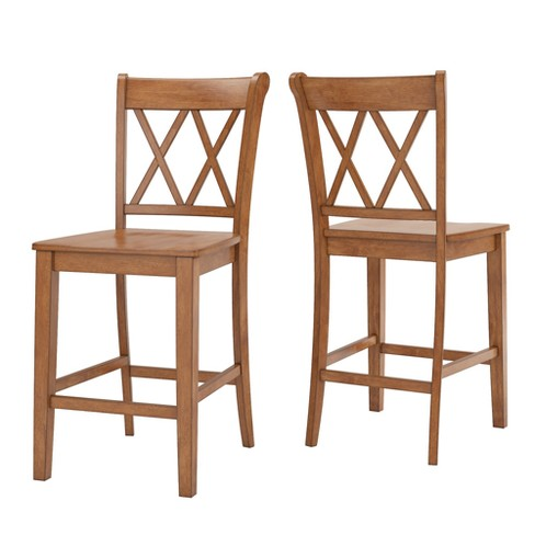 South Hill X Back 24 in. Counter Chair (Set of 2) - Inspire Q - image 1 of 6