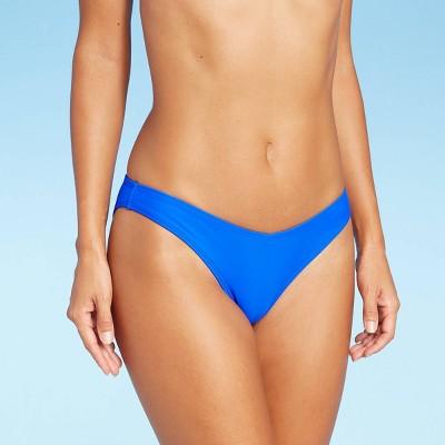 Juniors' High Leg V Bikini Bottom - Xhilaration™ Blue