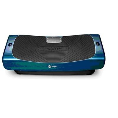 LifePro LP-RMXPRO-BLU Portable Home Training Fitness Exercise Workout Rumblex 4D Pro Vibration Plate Equipment Machine w/ Resistance Bands, Blue