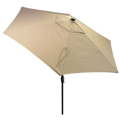 Merveilleux 9u0027 Round Solar Patio Umbrella   Threshold™