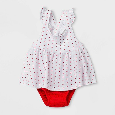 Baby Girls' Eyelet Star Top & Bottom Set - Cat & Jack™ White 12M