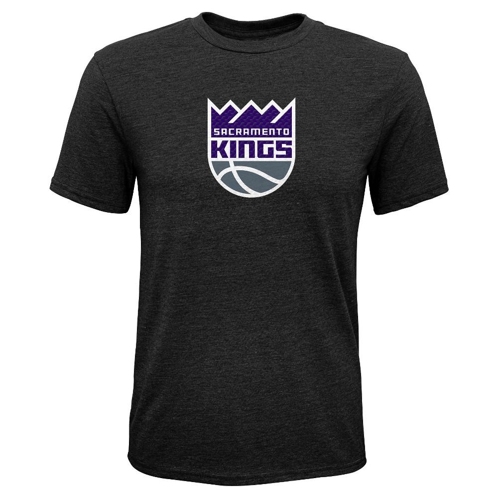 Sacramento Kings Boys' Buzzer Beater Gray Performance T-Shirt M, Multicolored