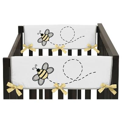 Sweet Jojo Designs Honey Bee Side Crib Rail Guard Covers (Set of 2)- Yellow