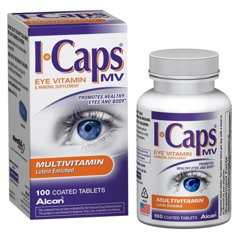 I-Caps® Lutein Enriched Eye Vitamin and Mineral Dietary Supplement Tablets - 100ct - image 1 of 1