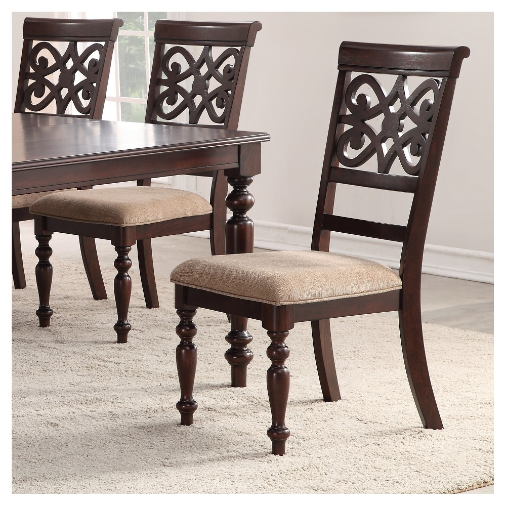 Image of Set of 2 Lilith Side Chairs Walnut - Home Source Industries