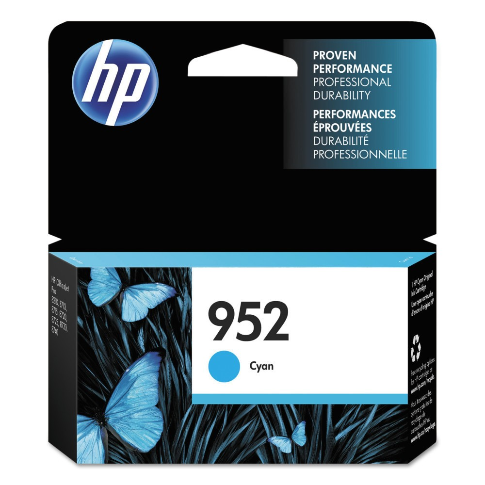 HP 952 Single Original Ink Cartridge - Cyan (Blue) (HEWL0S49AN) Give your projects and assignments a touch of brilliance with this HP 952 Original Ink Cartridge. The HP printer ink works with high-volume print jobs to deliver consistent and professional prints whether for work or home-based requirements. The printer ink cartridge is compatible with most HP printers. Color: Cyan.