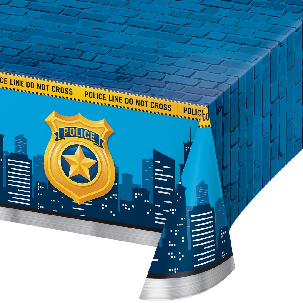Creative Converting Police Party Plastic Tablecloth