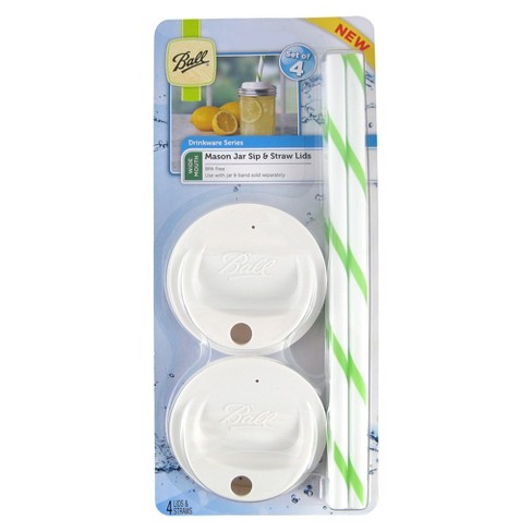 Ball® Set of 4 Wide Mouth Lid Topper with Straws - image 1 of 1