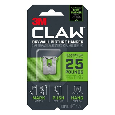 3M 25lb CLAW Drywall Picture Hanger with Spot Marker