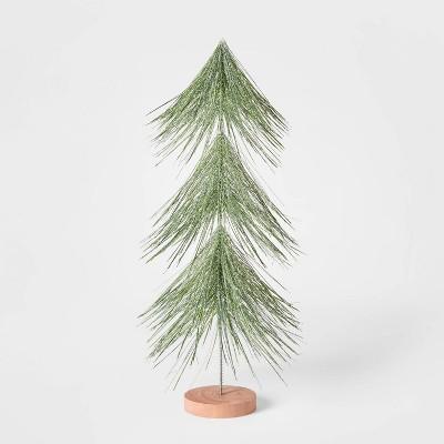 18in Unlit Tinsel Christmas Tree Decorative Figurine Green - Wondershop™
