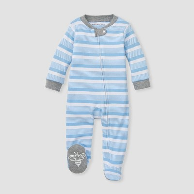 Burt's Bees Baby® Baby Boys' Long Road Striped Sleep N' Play - Blue