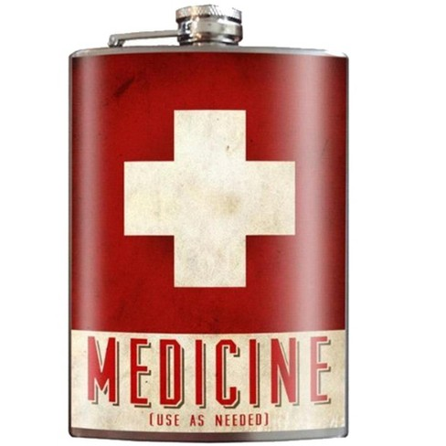 "Trixie and Milo ""Medicine"" 8oz Stainless Steel Flask - image 1 of 1"