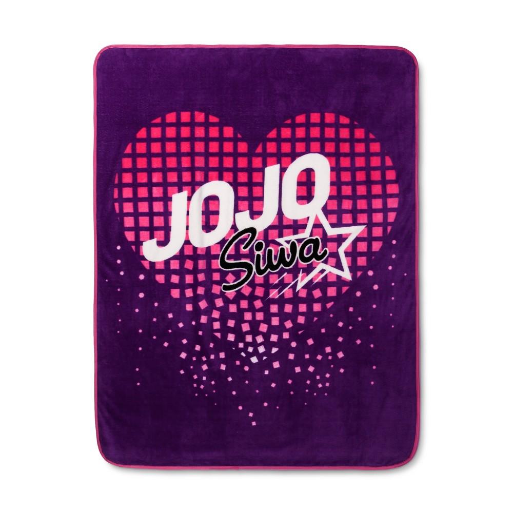 "Image of ""JoJo Siwa Purple Throw Blankets (46""""x60"""")"""