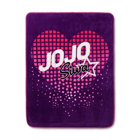 "JoJo Siwa Purple Throw Blankets (46""x60"") - image 1 of 3"
