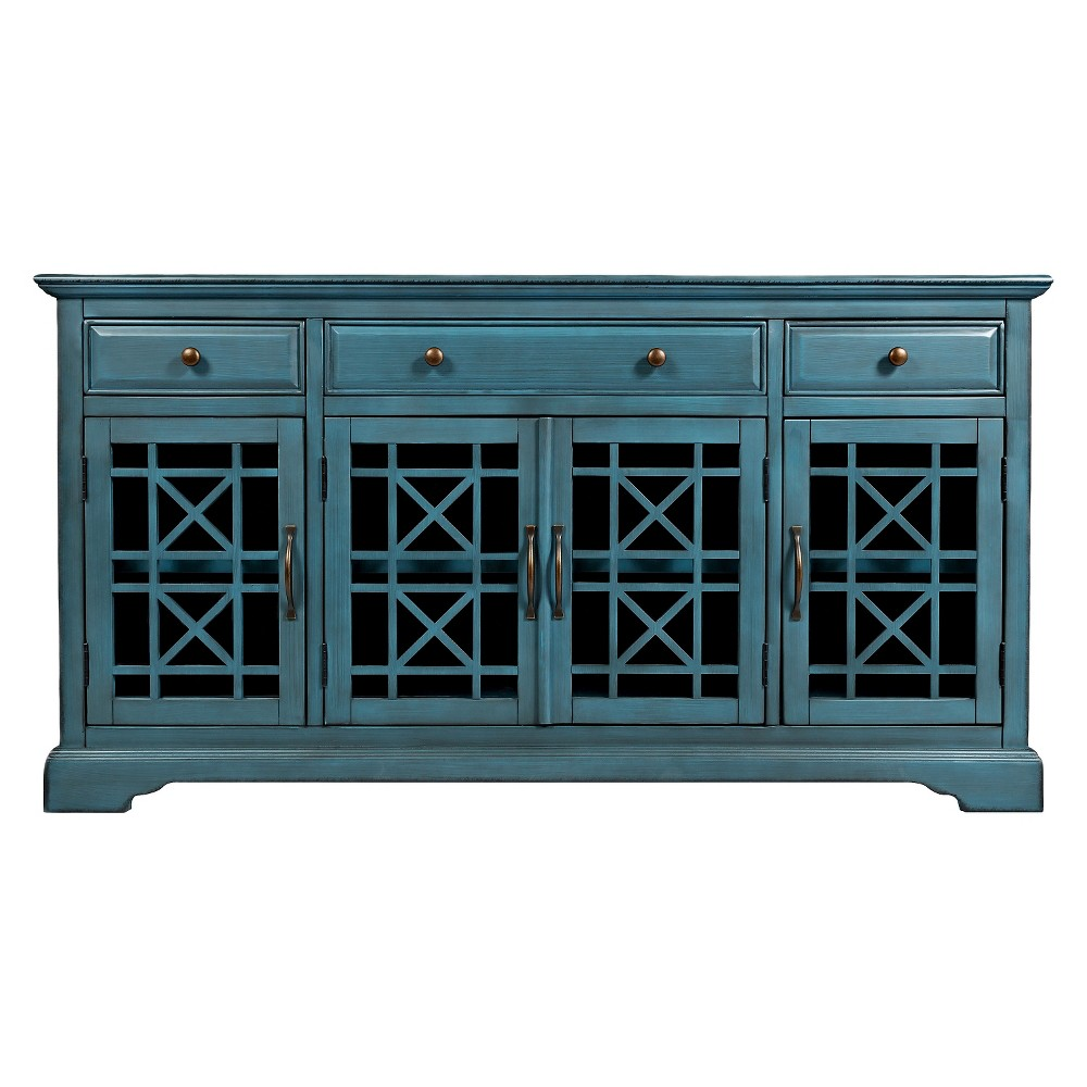 "Image of ""Craftsman Media Stand 60""""-70"""" - Jofran Inc., Blue"""