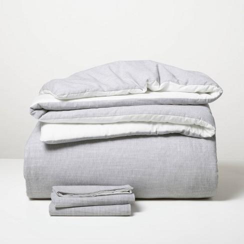 Microstripe Comforter & Sham Set - Hearth & Hand™ with Magnolia - image 1 of 3