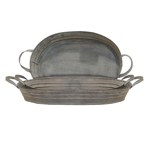 Metal Decorative Tray Set 3pc - VIP Home & Garden - image 1 of 1