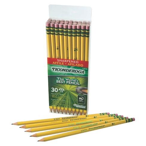 ticonderoga 2 pre sharpened pencil 2 2mm 30ct target