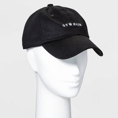 Adult Gym Hair Baseball Hat - Black