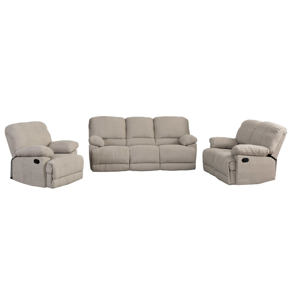 3pc Seating Set Beige - CorLiving