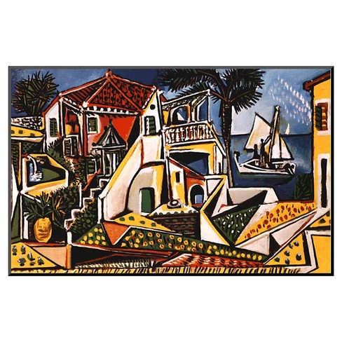 Art.com Mediterranean Landscape by Pablo Picasso - Mounted Print - image 1 of 2
