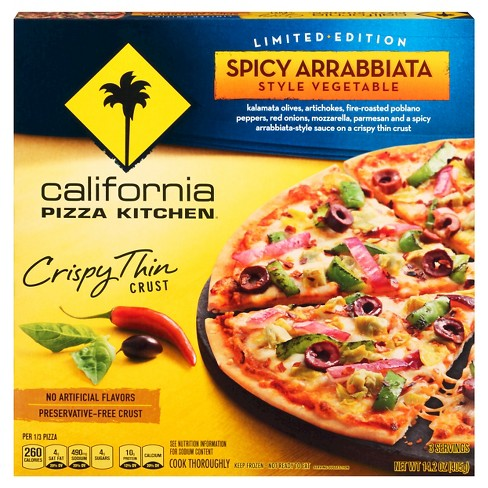 California Pizza Kitchen Spicy Arrabbiata Style Vegetable Crispy Thin Crust Pizza - 14.2oz - image 1 of 1