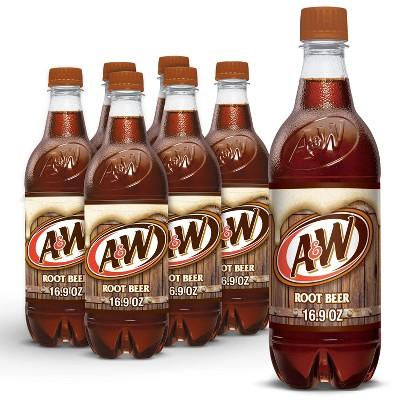 A&W Root Beer Soda - 6pk/0.5 L Bottles