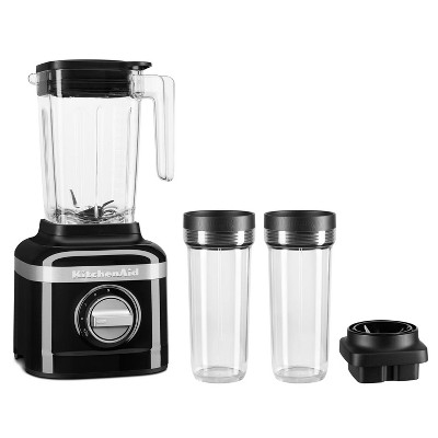KitchenAid 3-Speed Blender with 2 Personal Blender Jars - Onyx Black