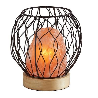 Hope Himalayan Salt Table Lamp (Includes Light Bulb) Black - Adesso