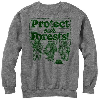 Men's Star Wars Ewok Protect Our Forests Sweatshirt