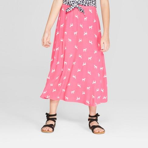 24d13c61c659 Girls  Unicorn Knit Maxi Skirt - Cat   Jack™ Magenta   Target