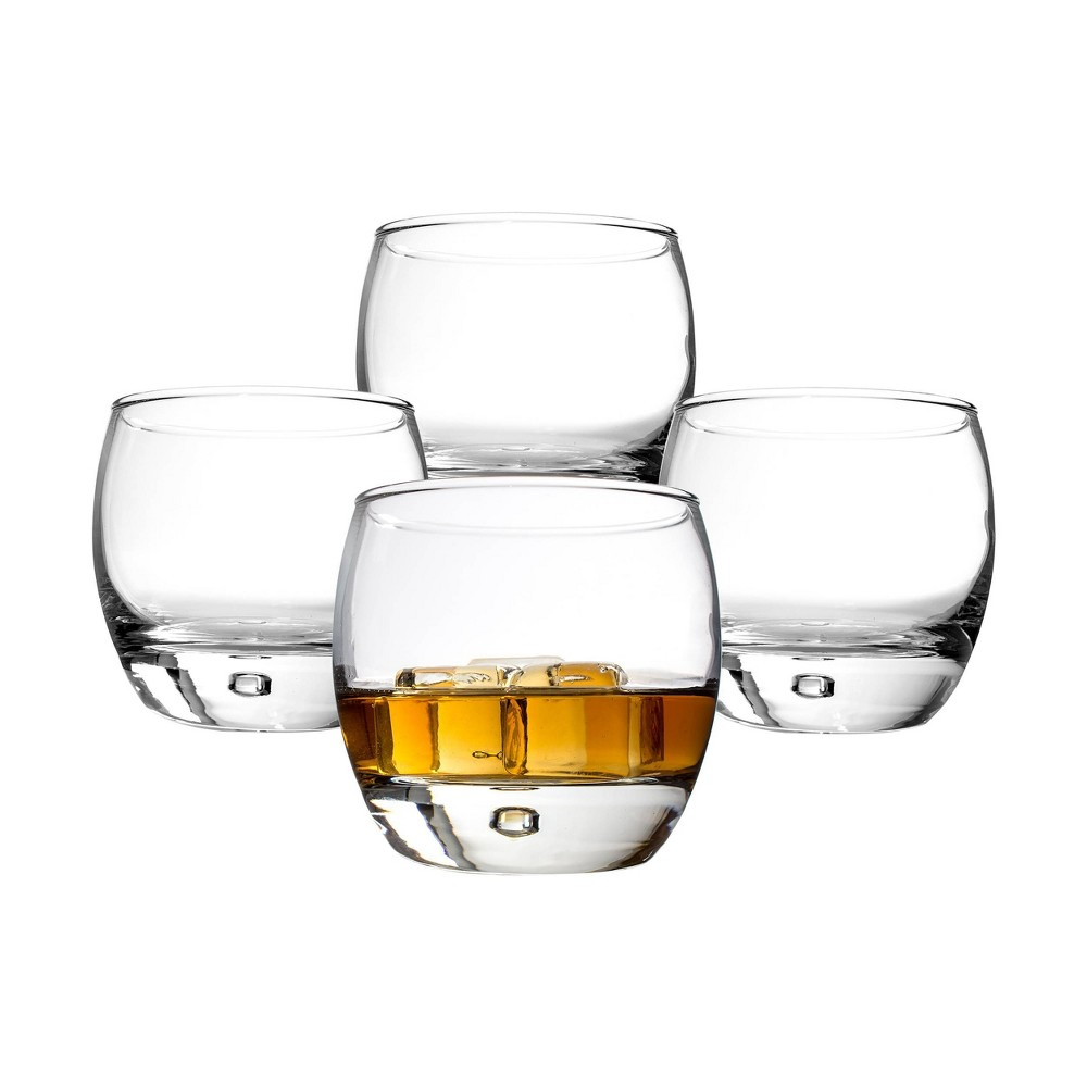 Image of 10.8oz 4pk Heavy Based Whiskey Glasses - Cathy's Concepts, Clear