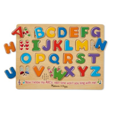 Melissa And Doug Alphabet Sounds Kids' Wooden Puzzle - 26pc