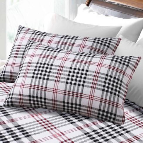 Full Printed Pattern Extra Deep Pocket Heavyweight Flannel Sheet Set Plaid Tribeca Living Target