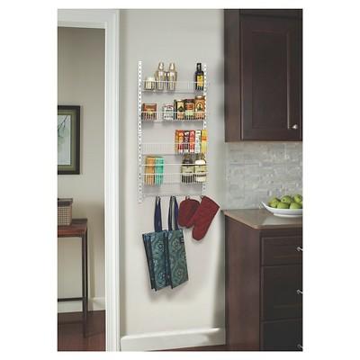 ClosetMaid 18  Over-the-Door Adjustable 4-Tier Wire Organizer - White