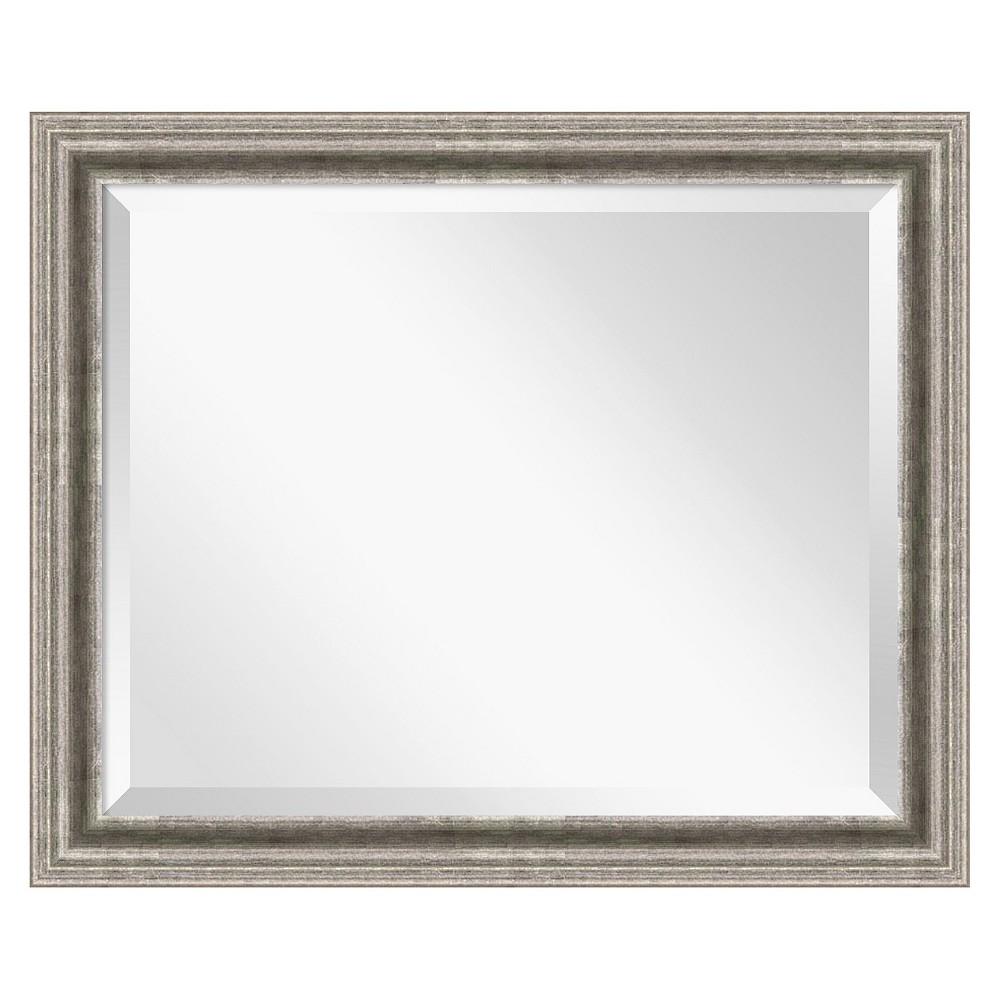 Image of Rectangle Bel Volto Decorative Wall Mirror Gray - Amanti Art, Dark Grey