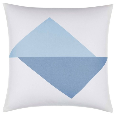 """Now House by Jonathan Adler Graphic Triangle 18""""x18"""" Throw Pillow Slate Blue - image 1 of 4"""
