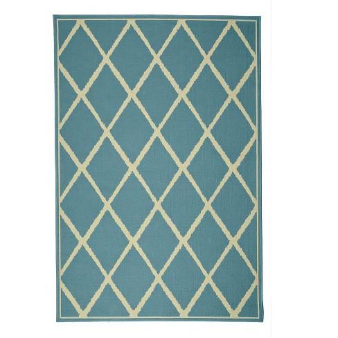 """Lattice Indoor / Outdoor Surry Rug, 6'7""""x 9'6"""" - Plow & Hearth - image 1 of 2"""