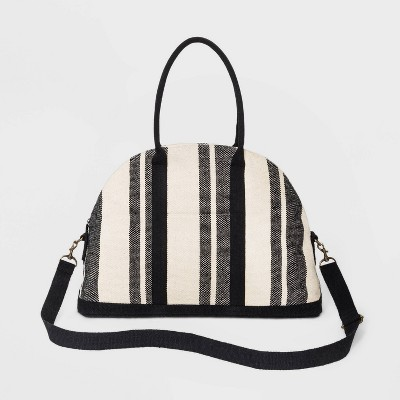 Striped Canvas Weekender Bag - Universal Thread™ Black/White