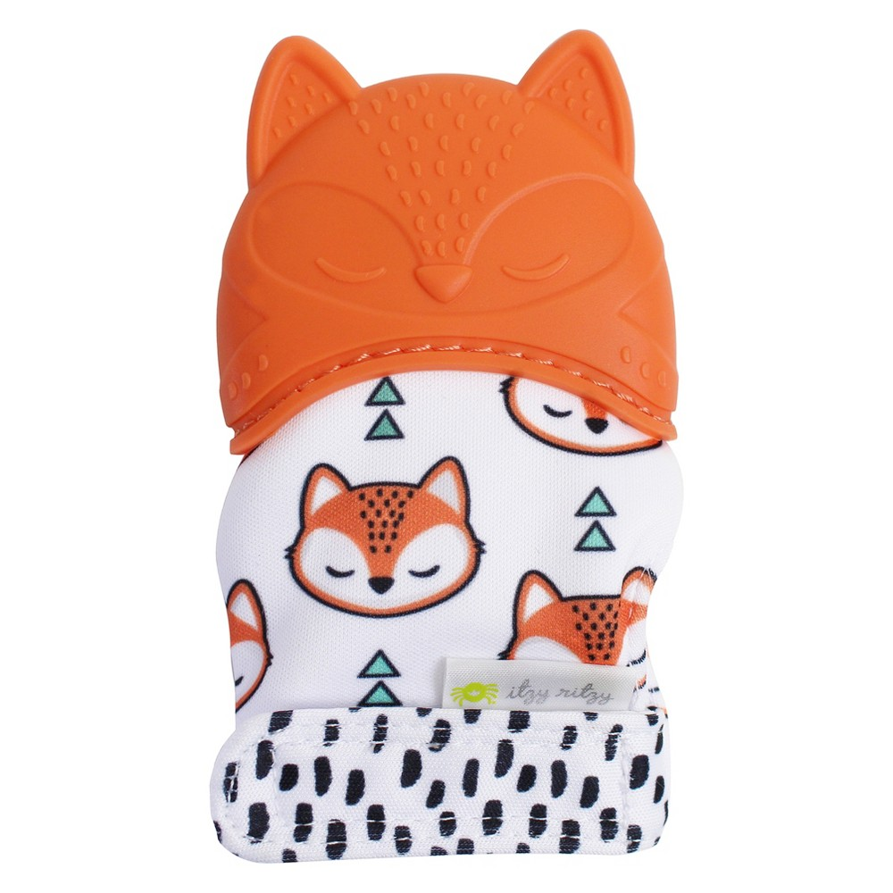 Image of Itzy Ritzy Teething Mitt Fox - Orange