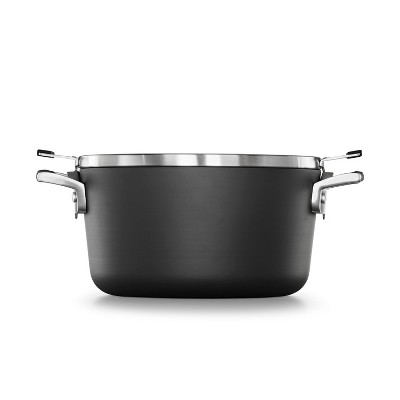 Calphalon Select 6qt Space Saving Hard-Anodized Nonstick Stock Pot with Lid