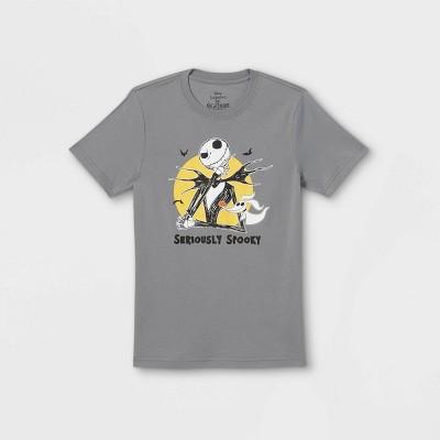 Boys' Disney Jack Seriously Spooky Halloween Short Sleeve Graphic T-Shirt - Charcoal Gray